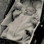 Ian in his pram